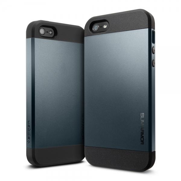 Чехол Spigen SGP Slim Armor Navy Blue OEM для iPhone 4/4S