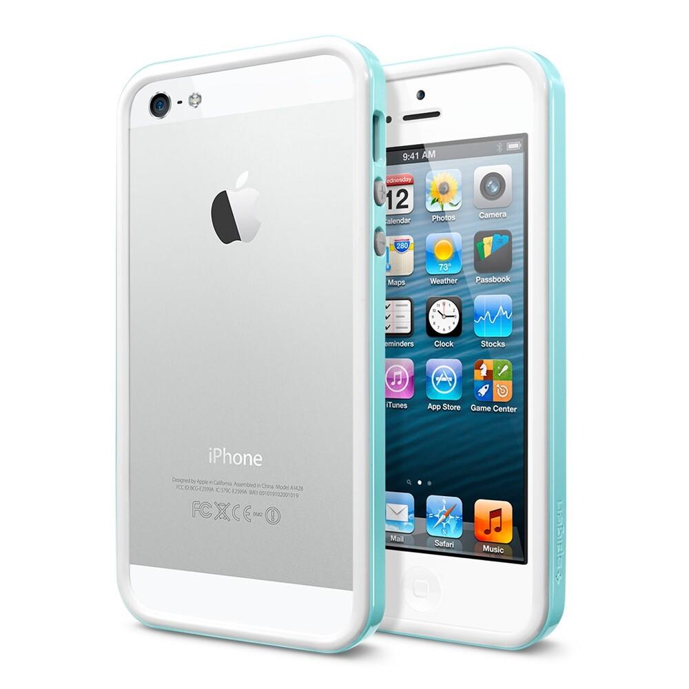 Бампер SGP Neo Hybrid EX Slim Snow для iPhone 5/5S/SE