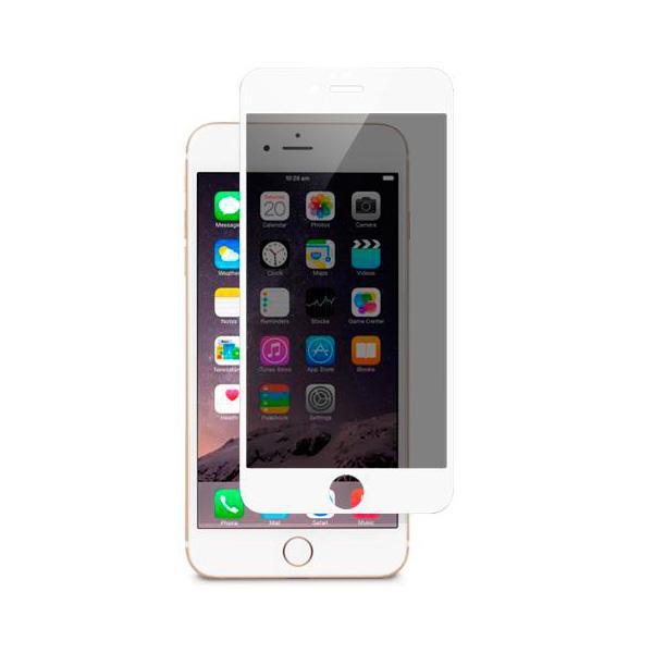 Защитное стекло Moshi iVisor Glass Privacy White для iPhone 6/6s Plus