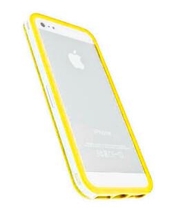 Купить Прозрачный бампер с желтым ободком для iPhone 5/5S/SE