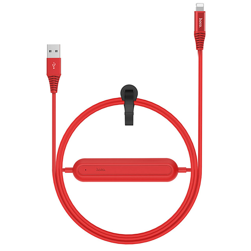 Кабель с аккумулятором HOCO U22 Red USB to Lightning 1.2m