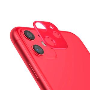 Купить Красная защитная рамка для камеры iPhone 11 oneLounge Metal Lens