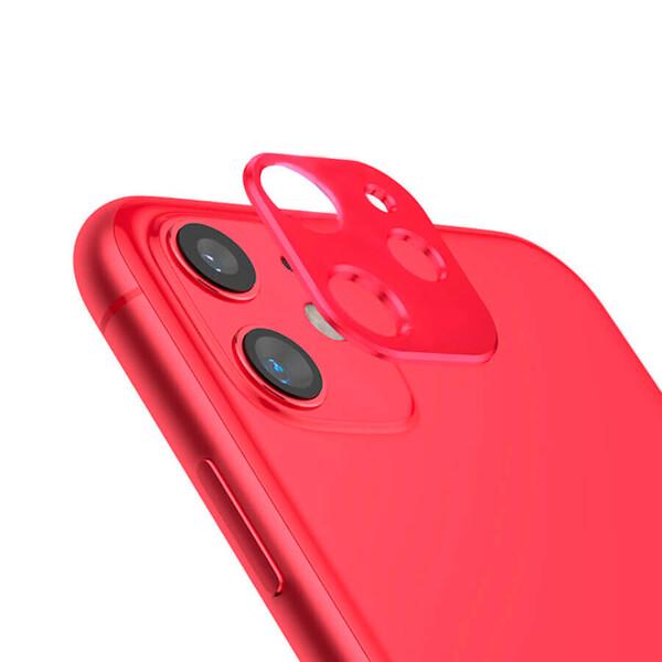 Красная защитная рамка для камеры iPhone 11 iLoungeMax Metal Lens