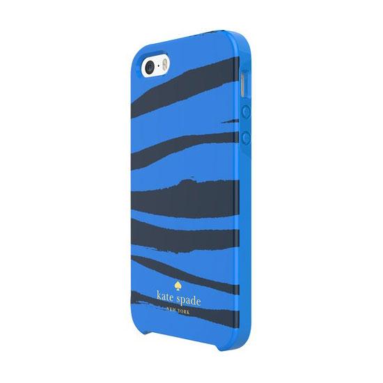 Купить Чехол-накладка Kate Spade Hybrid Hardshell Blue Zebra для iPhone 5 | 5S | SE
