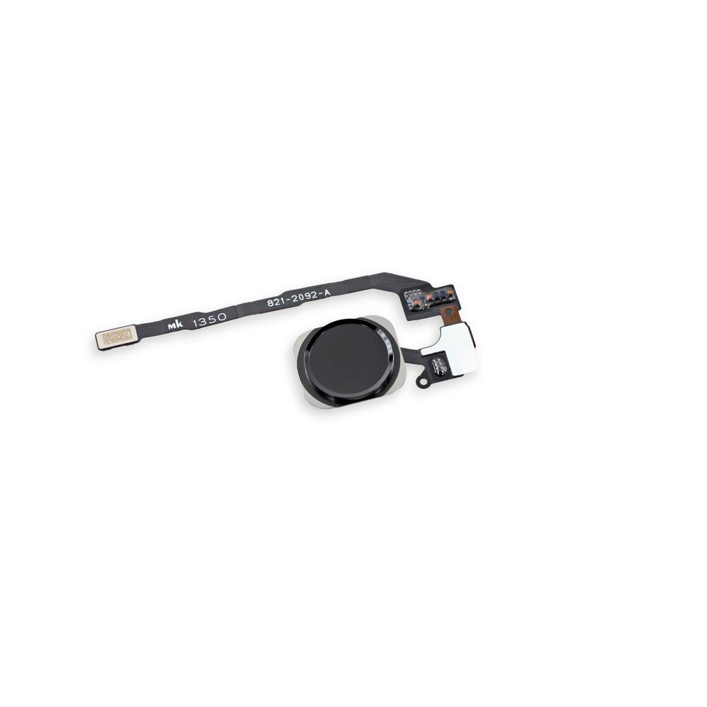 Купить Кнопка Home + шлейф (Black) для iPhone 5S | SE