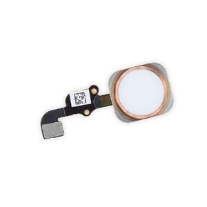 Купить Кнопка Home + шлейф (Rose Gold) для iPhone 6s Plus