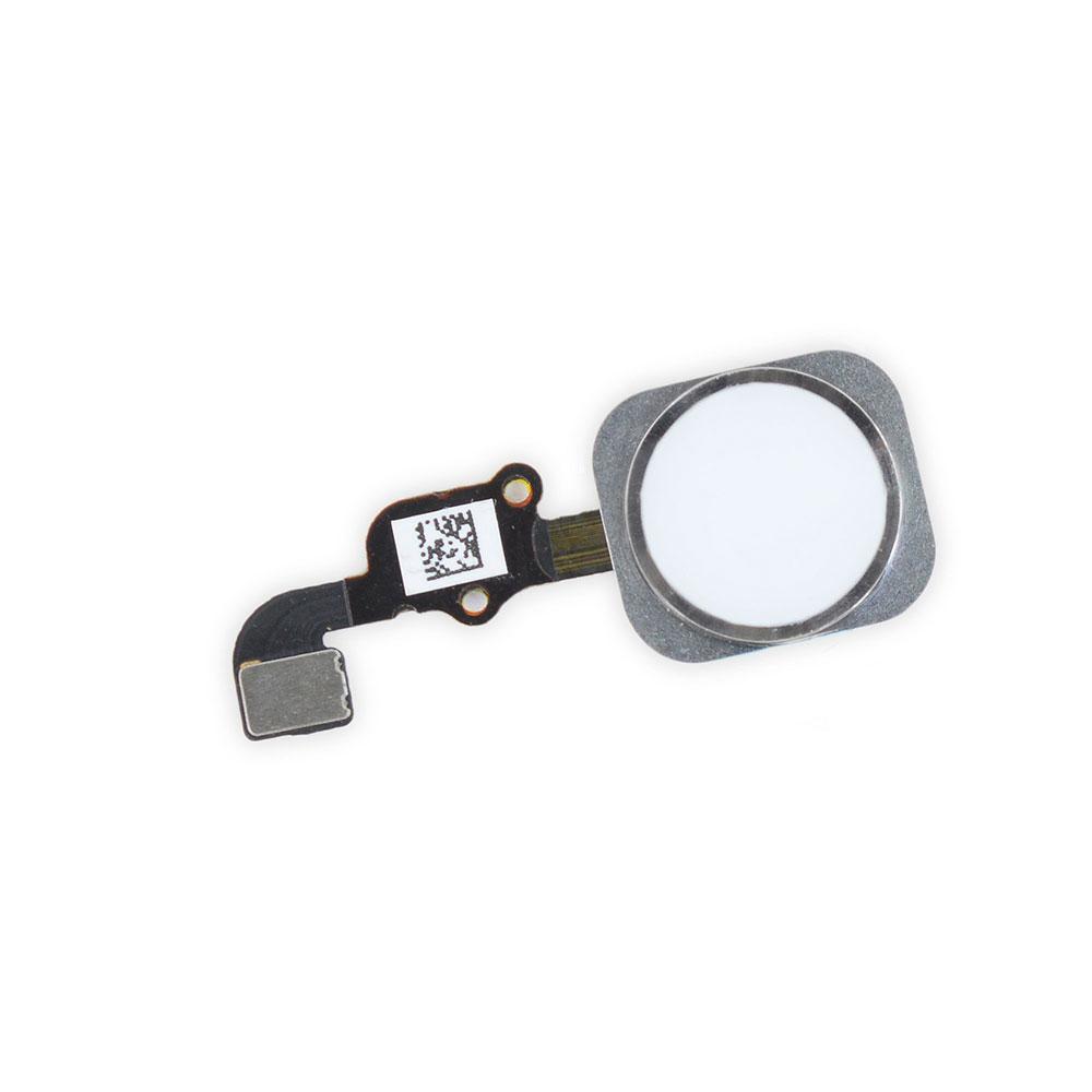 Купить Кнопка Home + шлейф (Silver) для iPhone 6s Plus
