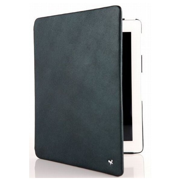 ZENUS Leather Case with Stand 'Prestige' Pearl Lizard Series - Olive Green для iPad 4/3