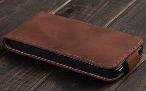Купить Коричневый кожаный флип-чехол VividFlip для iPhone 5/5S/SE