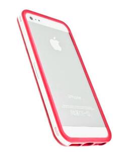 Купить Прозрачный бампер с красным ободком для iPhone 5/5S/SE