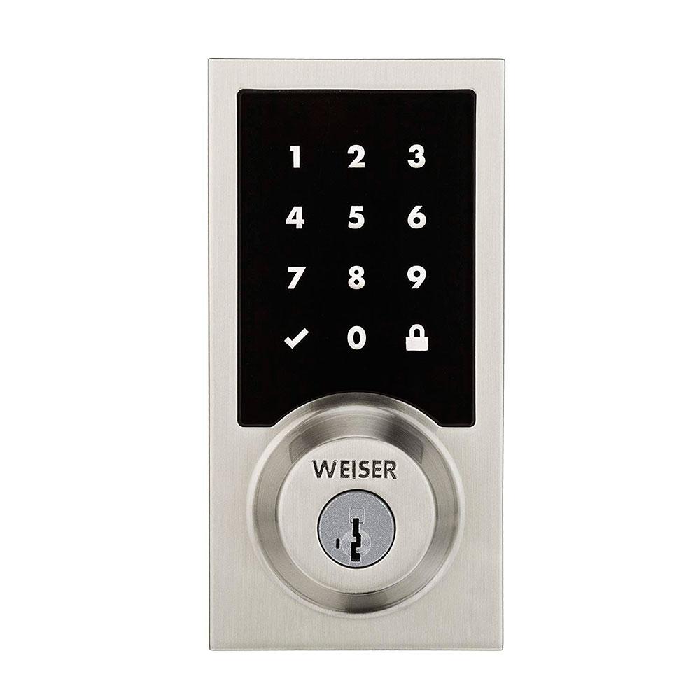 Купить Умный беспроводной замок Kwikset | Weiser Premis Touchscreen Smart Lock Satin Nickel