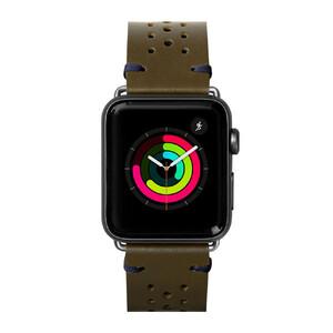 Купить Кожаный ремешок Laut Heritage Olive для Apple Watch 44mm/42mm Series 5/4/3/2/1