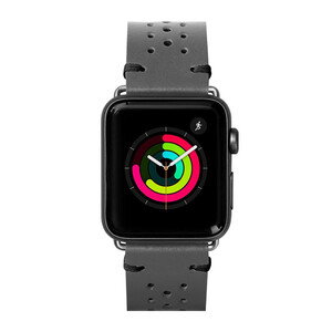 Купить Кожаный ремешок Laut Heritage Slate Grey для Apple Watch 44mm/42mm Series 1/2/3/4