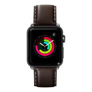 Купить Кожаный ремешок Laut Oxford Espresso для Apple Watch 38mm/40mm Series 5/4/3/2/1
