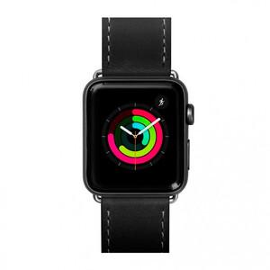 Купить Кожаный ремешок Laut Safari Black для Apple Watch 42mm/44mm Series 5/4/3/2/1