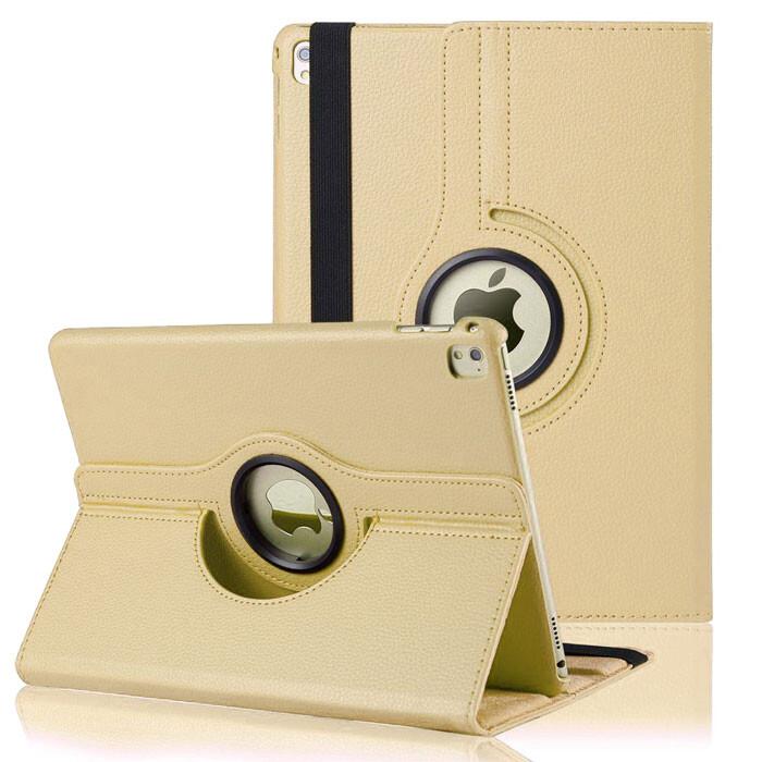 """Кожаный чехол 360 Rotating Gold для iPad Pro 9.7"""""""