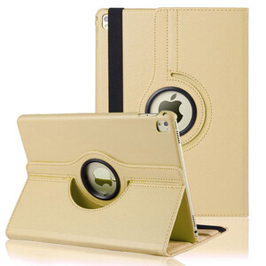 """Купить Кожаный чехол 360 Rotating Gold для iPad Pro 9.7"""""""