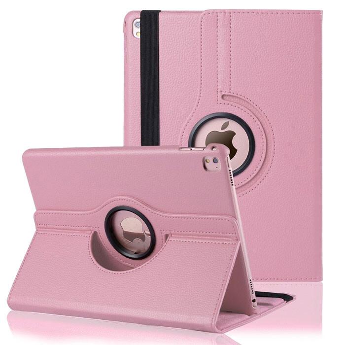 "Кожаный чехол 360 Rotating Pink для iPad Pro 9.7"""