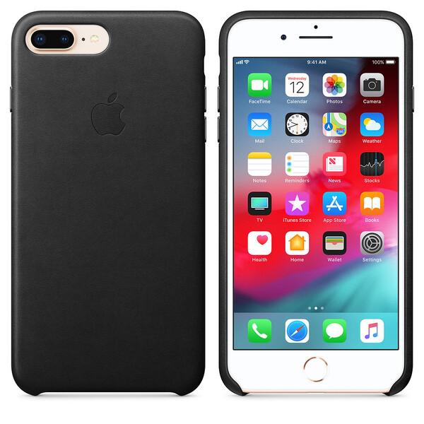 Кожаный чехол iLoungeMax Leather Case Black для iPhone 7 Plus | 8 Plus OEM