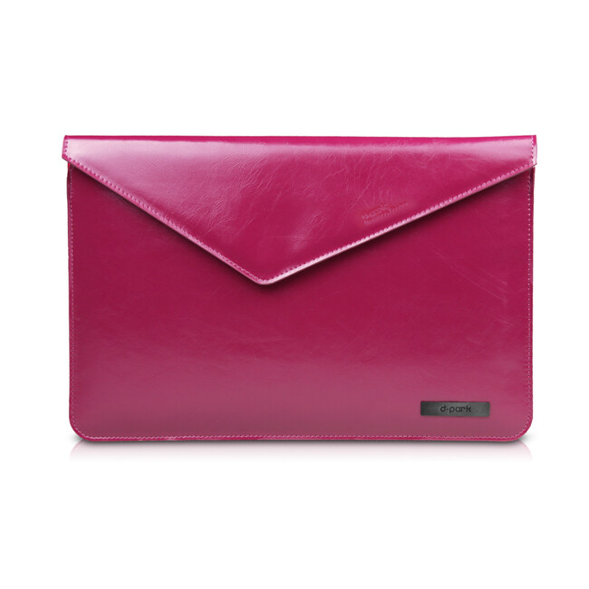 """Кожаный чехол d-park Architect Purple для Macbook 12"""""""