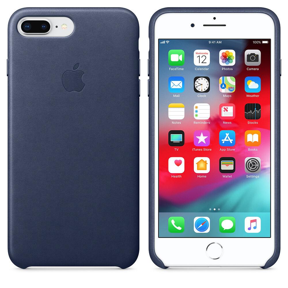 Кожаный чехол oneLounge Leather Case Midnight Blue для iPhone 7 Plus | 8 Plus OEM