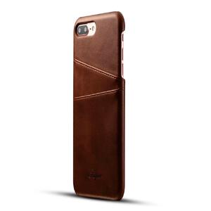 Купить Кожаный чехол с отделениями для карт Super Dark Brown для iPhone 7 Plus
