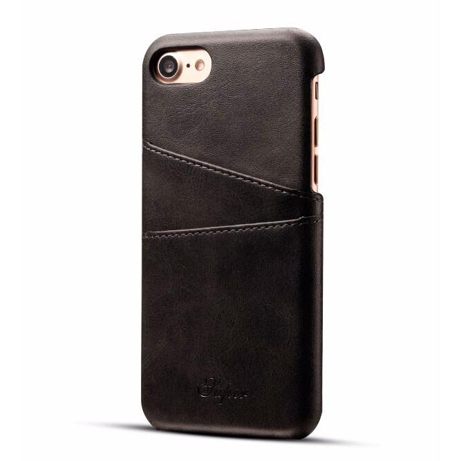 Кожаный чехол с отделениями для карт Super Black для iPhone 7/8