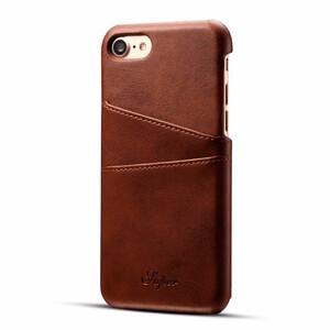 Купить Кожаный чехол с отделениями для карт Super Dark Brown для iPhone 7/8