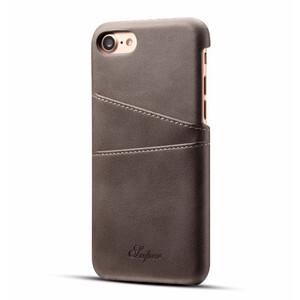Купить Кожаный чехол с отделениями для карт Super Gray для iPhone 7/8