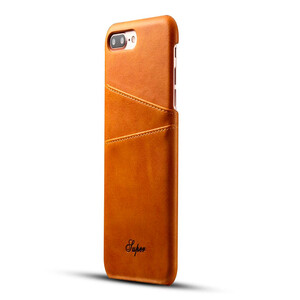 Купить Кожаный чехол с отделениями для карт Super Brown для iPhone 7 Plus