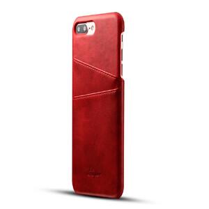Купить Кожаный чехол с отделениями для карт Super Red для iPhone 7 Plus