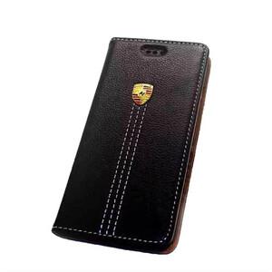 Купить Кожаный флип-чехол Porsche для iPhone 6/6s