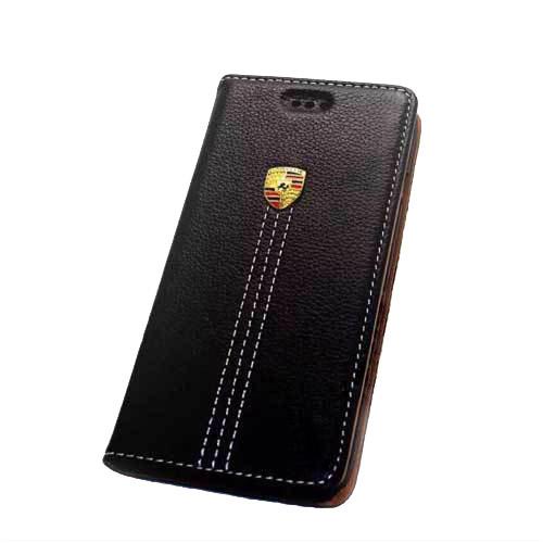 Кожаный флип-чехол Porsche для iPhone 6/6s