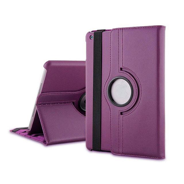 Кожаный чехол 360 Rotating для iPad mini 3/2/1 Фиолетовый