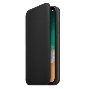 Купить Кожаный чехол-книжка oneLounge Leather Folio Black для iPhone X/XS OEM
