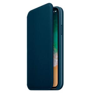 Купить Кожаный чехол-книжка oneLounge Leather Folio Midnight Blue для iPhone X/XS OEM