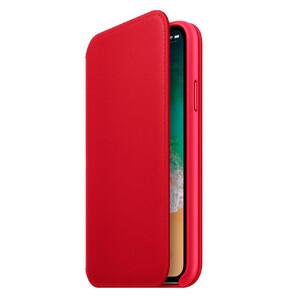 Купить Кожаный чехол-книжка oneLounge Leather Folio Red для iPhone X/XS OEM