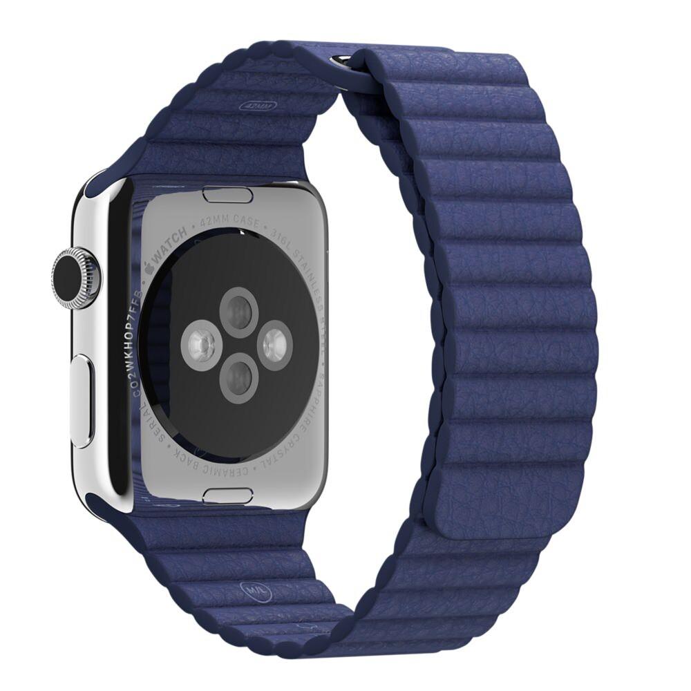 Ремешок Apple 42mm Midnight Blue Leather Loop (MLHL2) Medium для Apple Watch Series 1/2/3