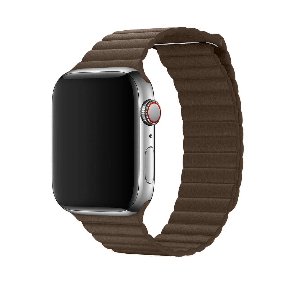 Ремешок oneLounge Leather Loop Brown для Apple Watch 44mm/42mm Series 5/4/3/2/1 OEM