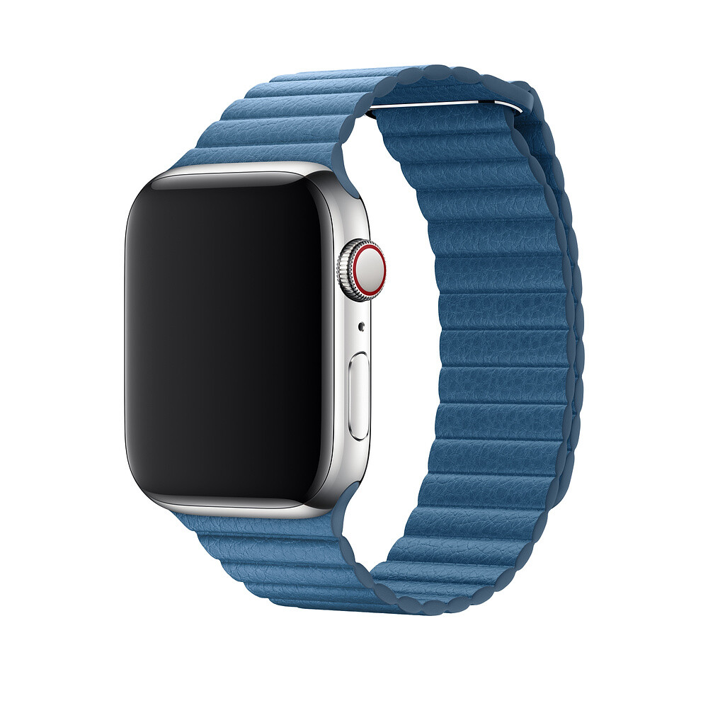 Ремешок oneLounge Leather Loop Cape Cod Blue для Apple Watch 44mm/42mm Series 1/2/3/4 (Лучшая копия)