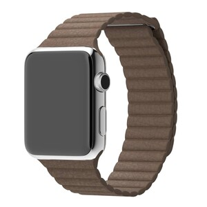 Купить Ремешок Apple Leather Loop Light Brown Medium (MJ522) для Apple Watch 42mm/44mm Series 1/2/3/4