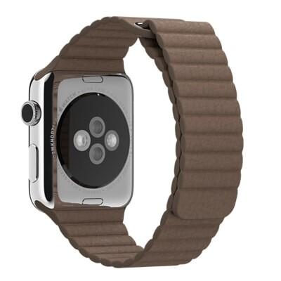 Ремешок Apple 42mm Light Brown Leather Loop (MJ522) Medium для Apple Watch Series 1/2