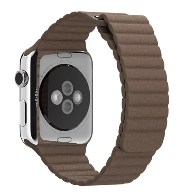 Ремешок Apple 42mm Light Brown Leather Loop (MJ522) для Apple Watch