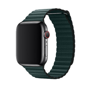 Купить Ремешок oneLounge Leather Loop Forest Green для Apple Watch 44mm | 42mm SE | 6 | 5 | 4 | 3 | 2 | 1 OEM