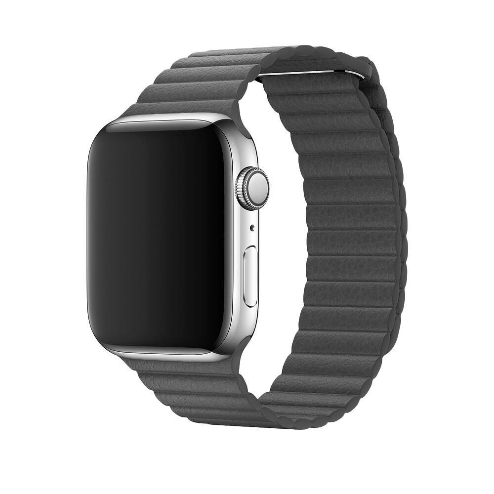 Ремешок iLoungeMax Leather Loop Grey для Apple Watch 44mm | 42mm SE | 6 | 5 | 4 | 3 | 2 | 1 OEM
