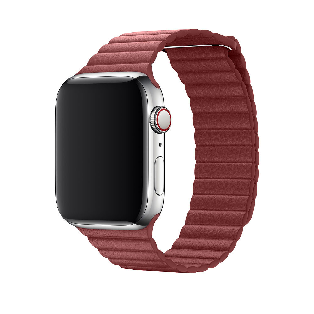 Ремешок oneLounge Leather Loop Red для Apple Watch 44mm | 42mm SE | 6 | 5 | 4 | 3 | 2 | 1 OEM