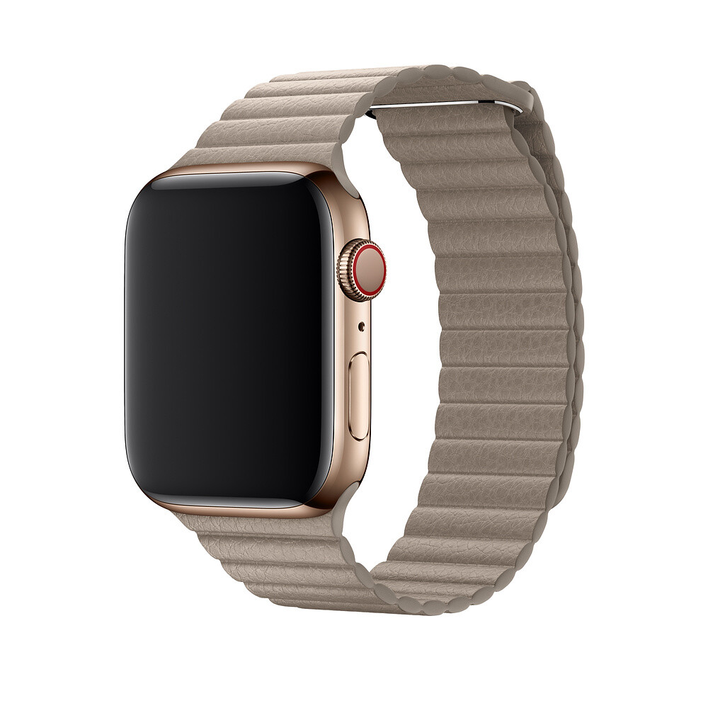 Ремешок oneLounge Leather Loop Stone для Apple Watch 44mm/42mm Series 1/2/3/4 OEM