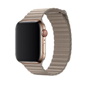 Купить Ремешок oneLounge Leather Loop Stone для Apple Watch 44mm/42mm Series 1/2/3/4 (Лучшая копия)