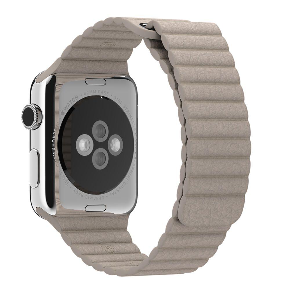 Ремешок Apple 42mm Stone Leather Loop (MJ4X2) Medium для Apple Watch Series 1/2/3