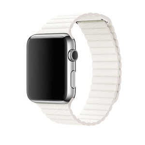 Купить Ремешок oneLounge Leather Loop White для Apple Watch 44mm | 42mm SE | 6 | 5 | 4 | 3 | 2 | 1 OEM